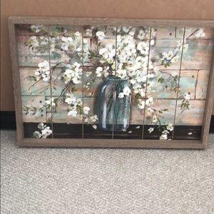 Other - Shabby Chic Farmhouse Mason Jar Wood Art